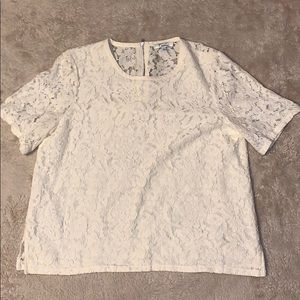 Madewell Cream Lace Top Size Large